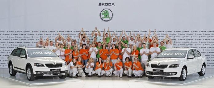 160329 One million third-generation sKODA Octavias produced