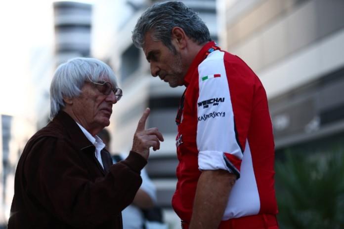 Bernie Ecclestone Maurizio Arrivabene