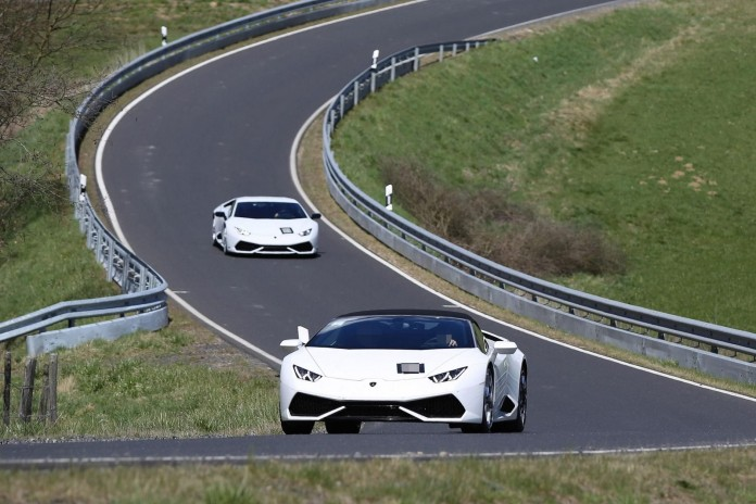 Lamborghini Huracan Superleggera mule spy photos (2)