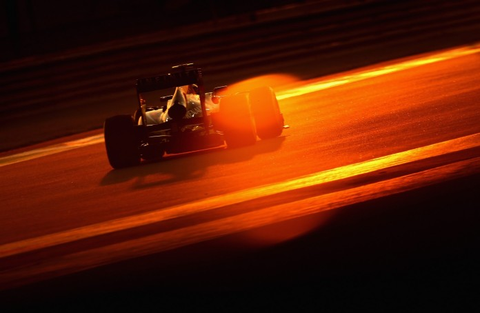 during the Abu Dhabi Formula One Grand Prix at the Yas Marina Circuit on November 3, 2013 in Abu Dhabi, United Arab Emirates.