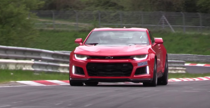 2017 Chevy Camaro ZL1 Testing on the Nurburgring
