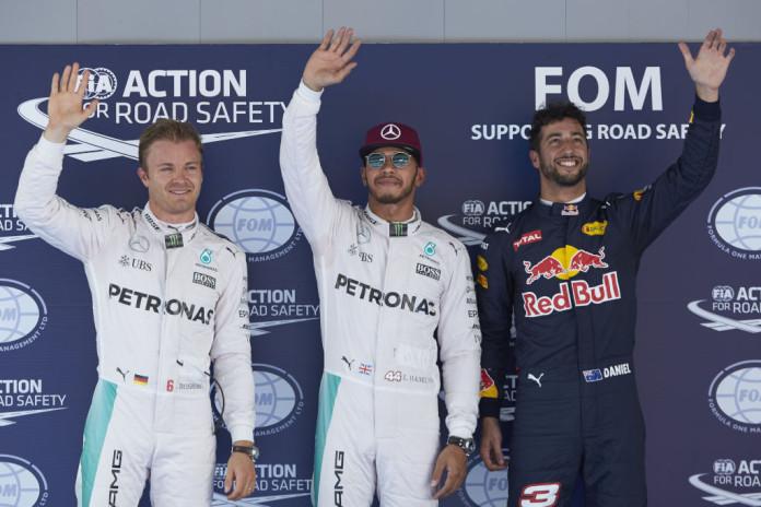 Hamilton-Rosberg-Ricciardo