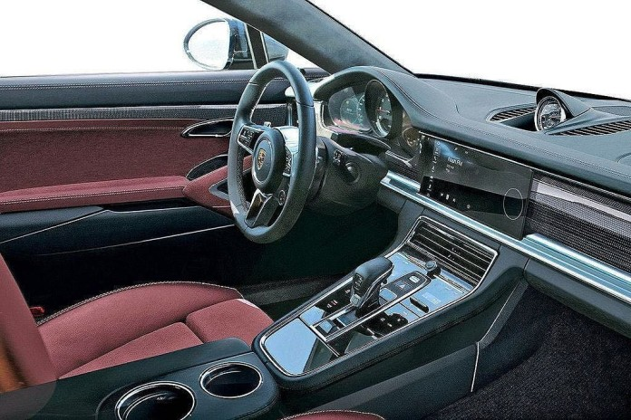 porsche panamera 2017 interior leaked photo