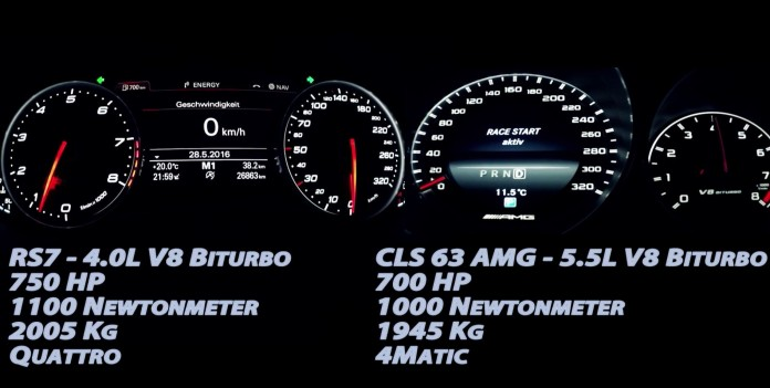 Audi RS 7 Vs CLS 63 AMG