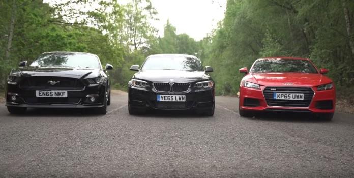 Ford Mustang vs Audi TT vs BMW M235i