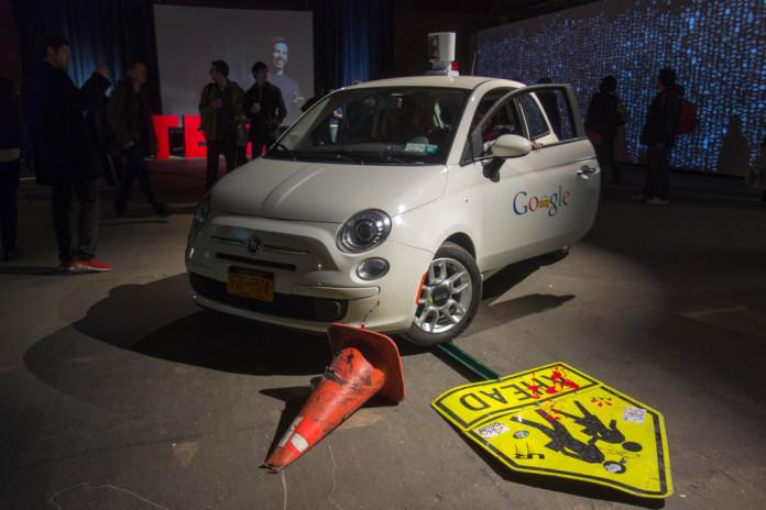 google driverless car crash autonomous