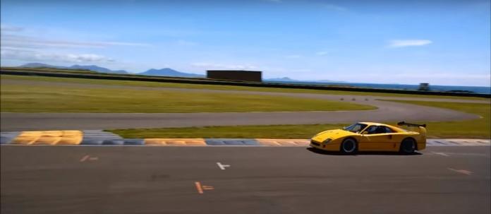 Ferrari F40 yellow