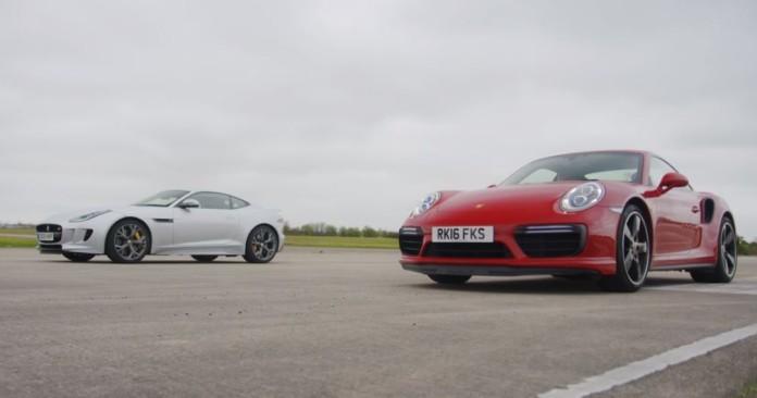 Jaguar F type R AWD vs Porsche 911 Turbo