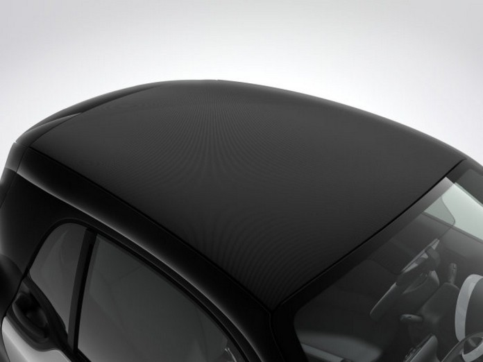 smart fortwo 2016, Volldach mit Stoffbezug in schwarz smart fortwo 2016, soft-top look roof