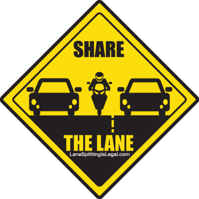 lane-splitting-share-the-lane-road-sign
