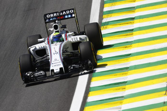 Interlagos, Sao Paulo, Brazil. Friday 11 November 2016. Felipe Massa, Williams FW38 Mercedes. Photo: Glenn Dunbar/Williams ref: Digital Image _R3I6232