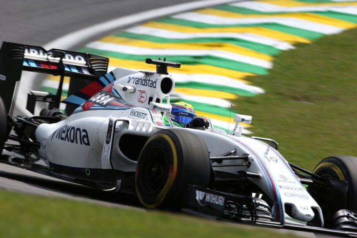 Interlagos, Sao Paulo, Brazil. Friday 11 November 2016. Felipe Massa, Williams FW38 Mercedes. Photo: Charles Coates/Williams ref: Digital Image AN7T2618