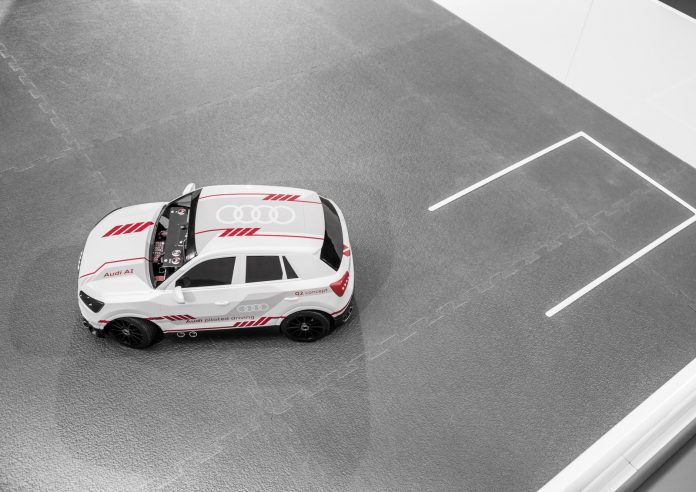 Audi Q2 deep learning concept , model car on a scale of 1:8