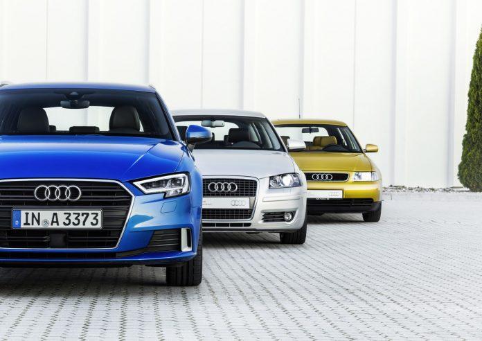 Audi A3, Generation 1, Year of manufacture 1996 Audi A3 Sportback, Generation 2, Year of manufacture 2004 Audi A3 Sportback, Generation 3, Year of manufacture 2016