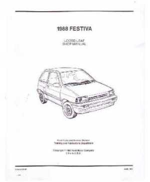 198889 FORD FESTIVA Body, Chassis & Electrical Service Manual