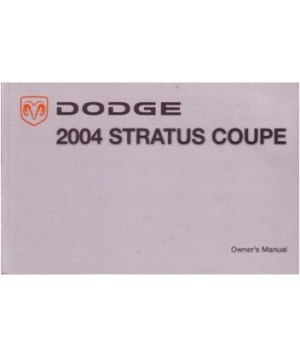 2004 DODGE STRATUS COUPE Owners Manual