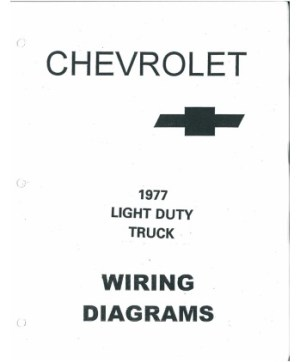 1977 CHEVROLET TRUCK Wiring Diagrams