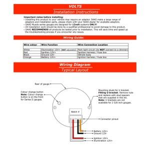 FORD FG FALCON XR6 XR8 CLIPIN DUAL GAUGE POD W WHITE OIL PRESS & VOLTS GAUGES | Autobox