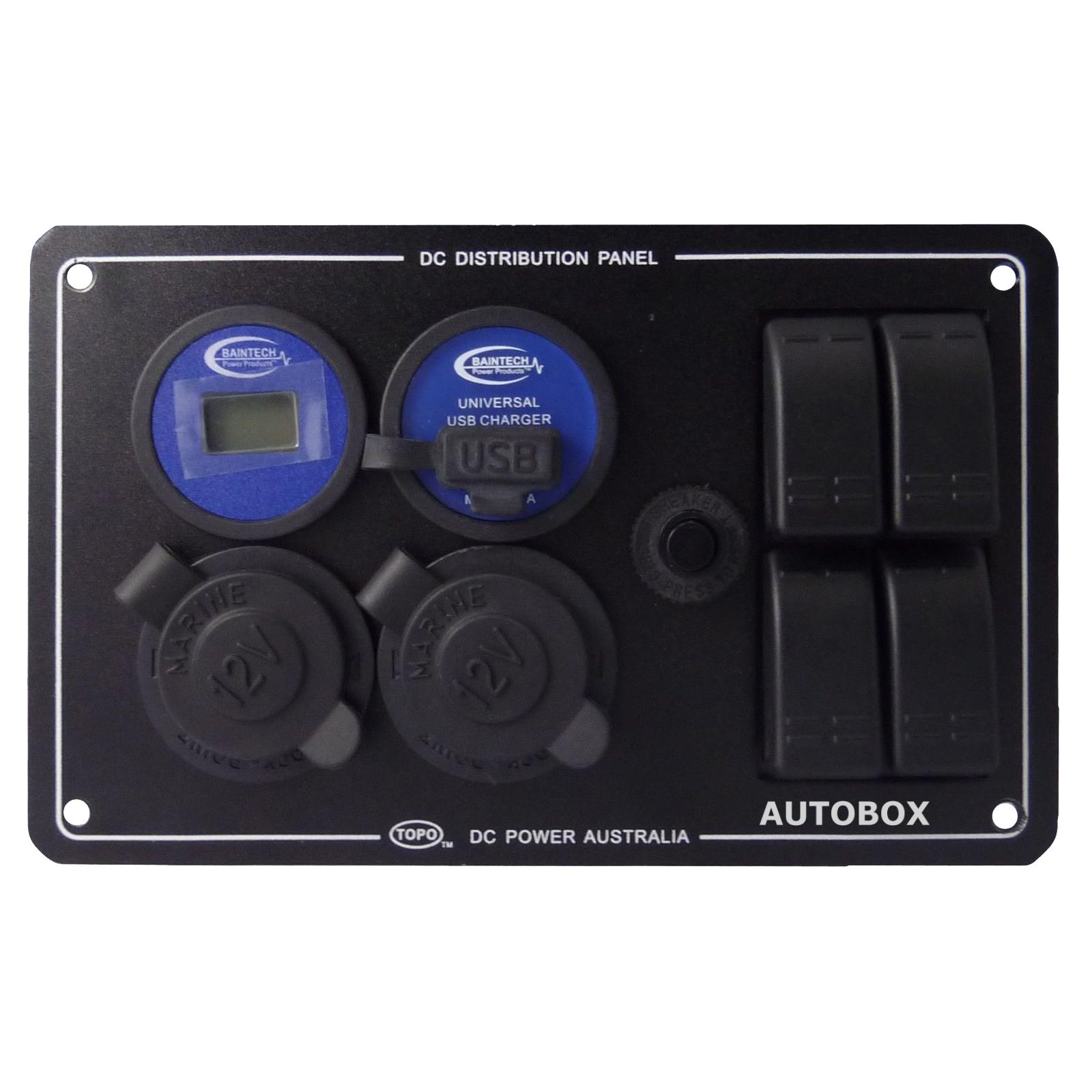 Caravan 12v Distribution Power Panel Voltmeter Usb 2x Ciga