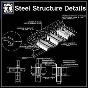 Free Steel Structure Details 5 - Autocad Design Pro-Autocad Blocks