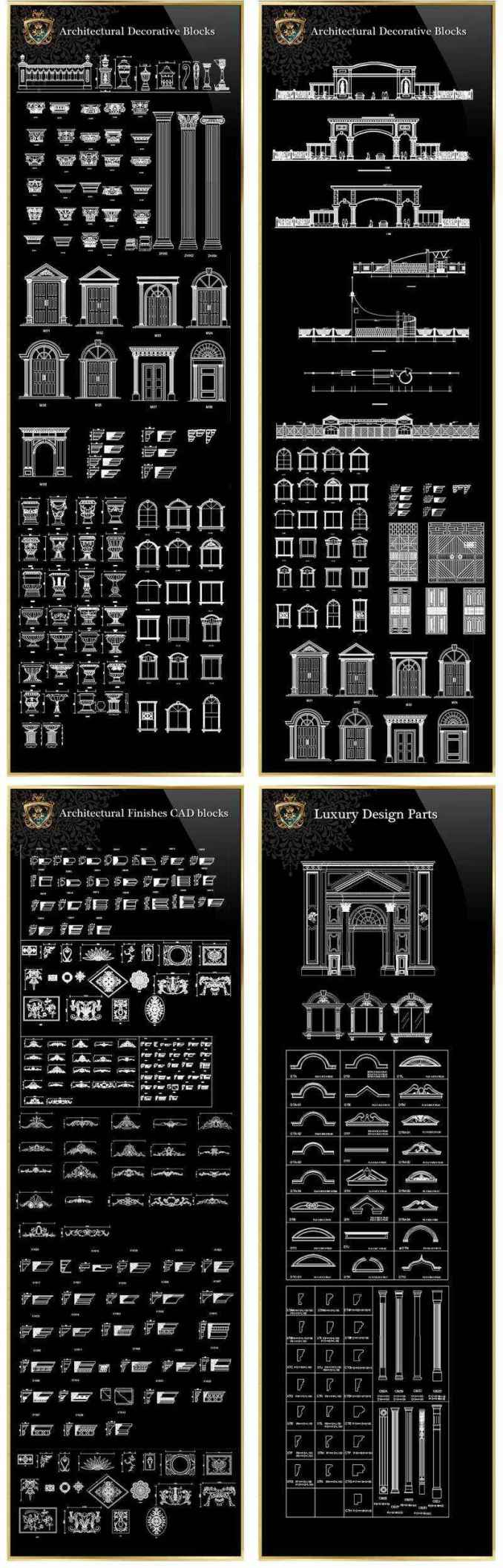 【Architectural CAD Drawings Bundle】(Best Collections!!)