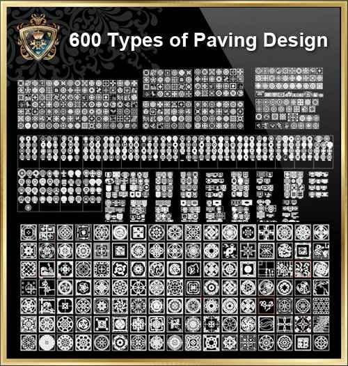 Over 600+ Types of Paving Design CAD Blocks - Autocad Design Pro-Autocad  Blocks,Drawings Download