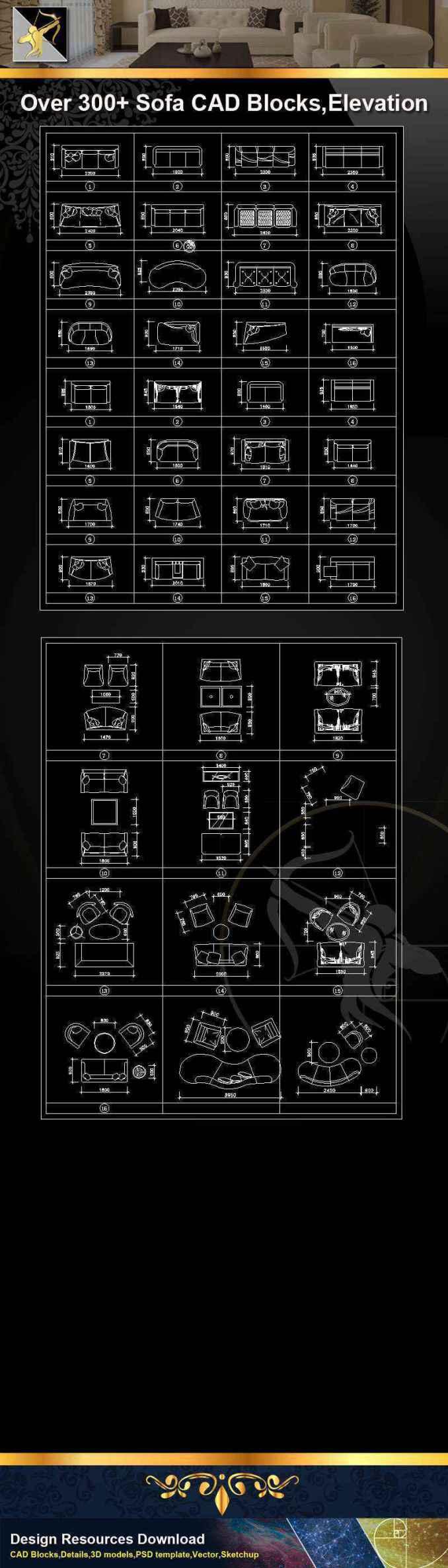 ☆【sofa cad blocks】@autocad blocks drawings cad details elevation