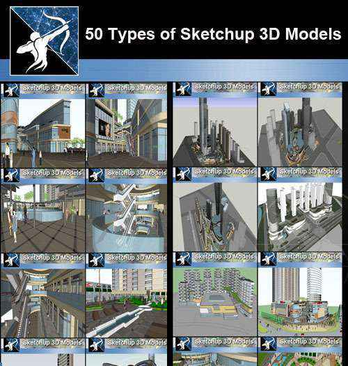 ★Best 50 Types of City Design,Commercial Building Sketchup 3D Models  Collection - Autocad Design Pro-Autocad Blocks,Drawings Download