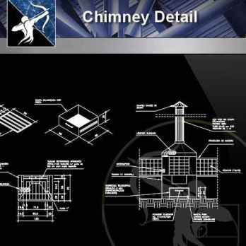 【Architecture CAD Details Collections】Chimney CAD Details