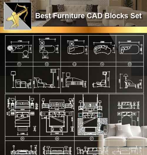 Furniture Cad Set Autocad Blocks Drawings Cad Details