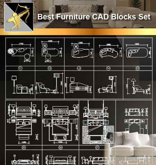 Furniture Cad Set Autocad Blocks Drawings Cad Details