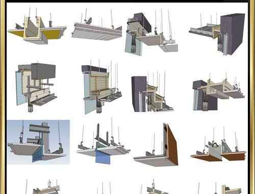 Best 70 Types Ceiling Sketchup 3D Detail Models】 (☆Recommanded