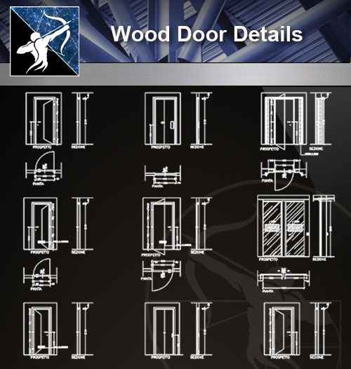 【Architecture CAD Details Collections】Door Details,Main Gate CAD Details