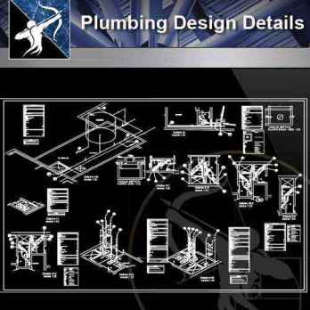 【Architecture CAD Details Collections】Plumbing CAD Detail Drawings(Good)
