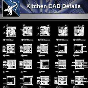 【Architecture CAD Details Collections】Detail drawing of Kitchen Design drawing,CAD Details
