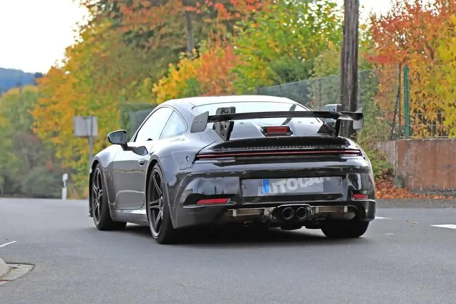 2020 porsche 911 gt3 spied in near production bodywork autocar