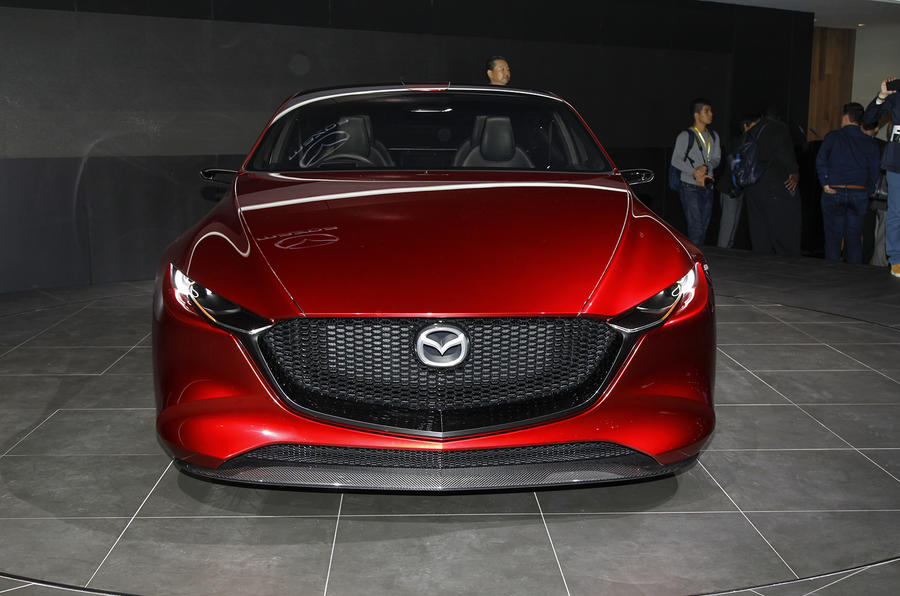 striking mazda kai concept previews new 3 hatch for 2019 | autocar