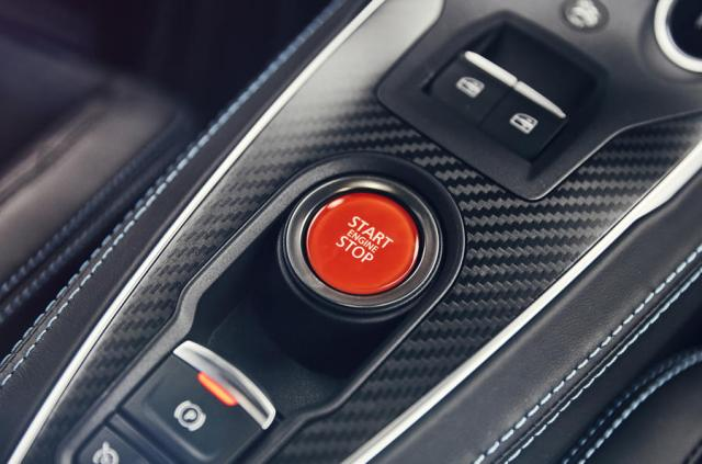 Alpine A110 ignition button