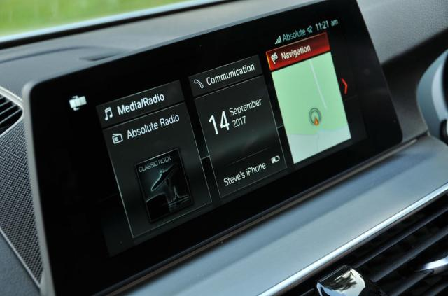 BMW 5 Series new iDrive homepage