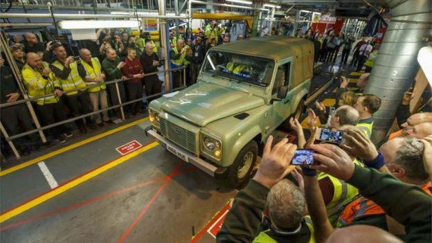 Land Rover - defender ended 2016