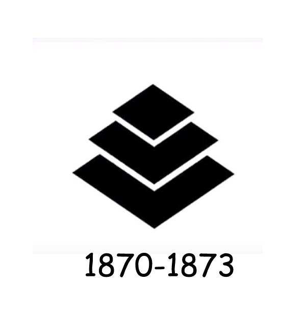 Mitsubishi logo 1870-1873