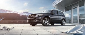 2014 GLK Class SUV front three quarters
