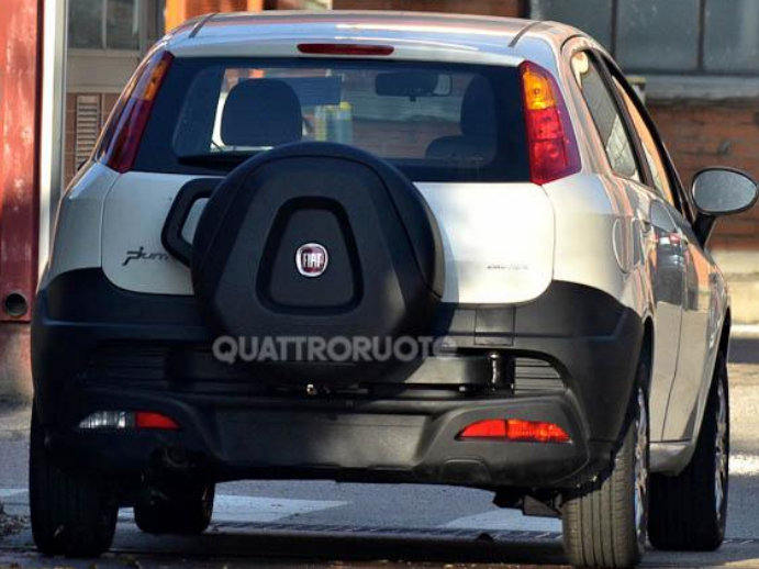2014 Fiat Punto Avventure rear mounted spare wheel