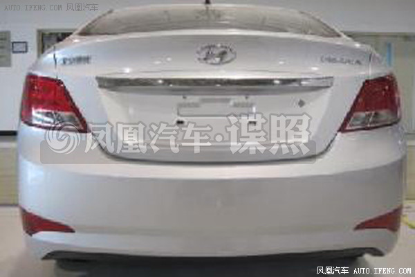 2014 Hyundai Verna facelift rear