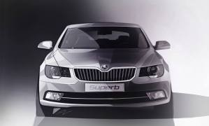 2014 Skoda Superb Facelift teaser front