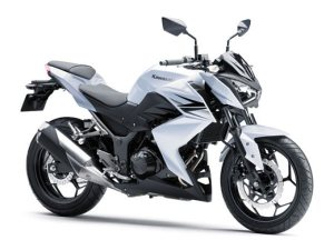 2014 Kawasaki Z250 front in white