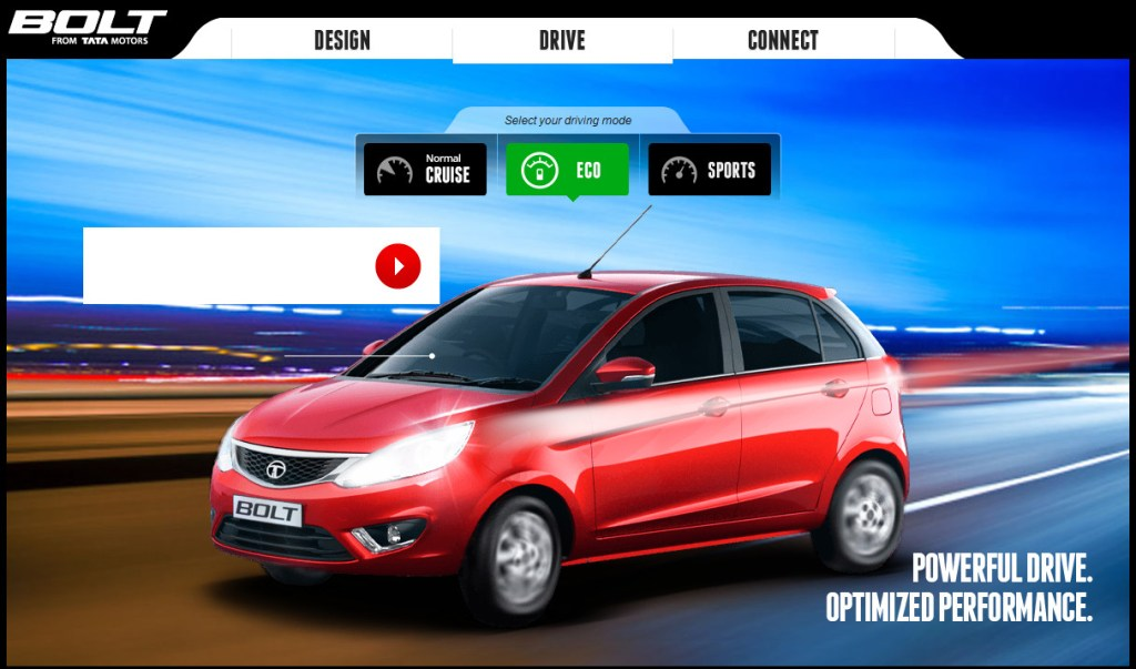 2014 Tata Bolt driving modes