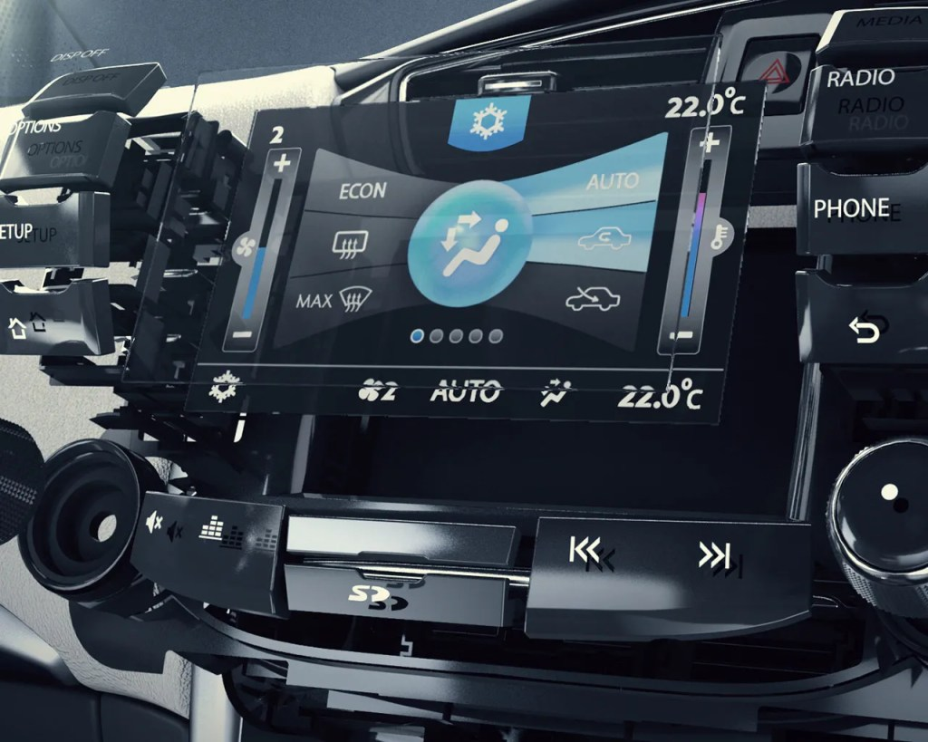 tata-zest-centre-console-exploded-view