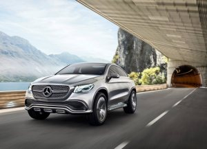 Mercedes-Benz Coupe SUV concept front three quarters