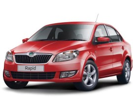 2014 Skoda Rapid in red